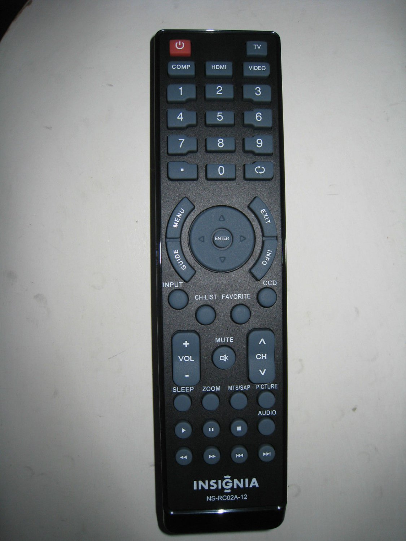 NEW ORIGINAL INSIGNIA NS-RC02A1 2-12 NS-RCO1A-11 TV REMOTE