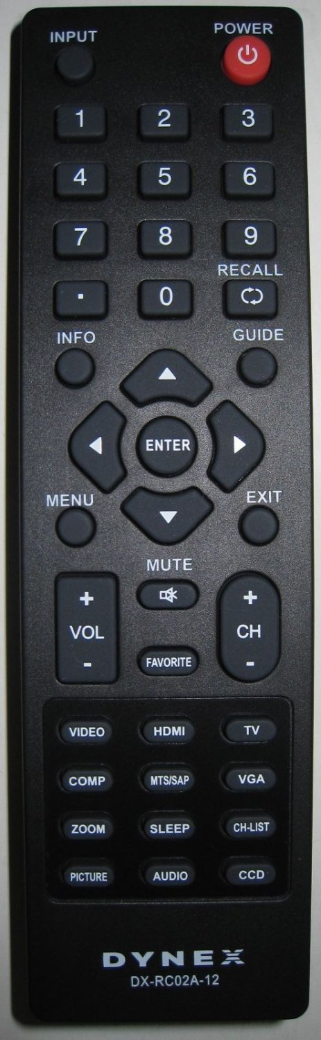 New Original DYNEX DX-RC02A-12 LCD LED TV Remote