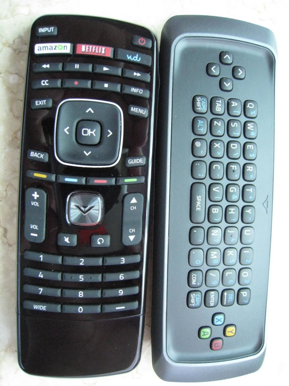 new vizio vrt300 qwerty keyboard remote control