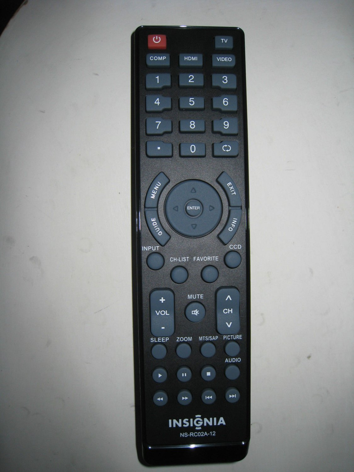 NEW ORIGINAL INSIGNIA NS-RC02A1 2-12 NS-RCO1A-11 TV REMOTE CONTROL