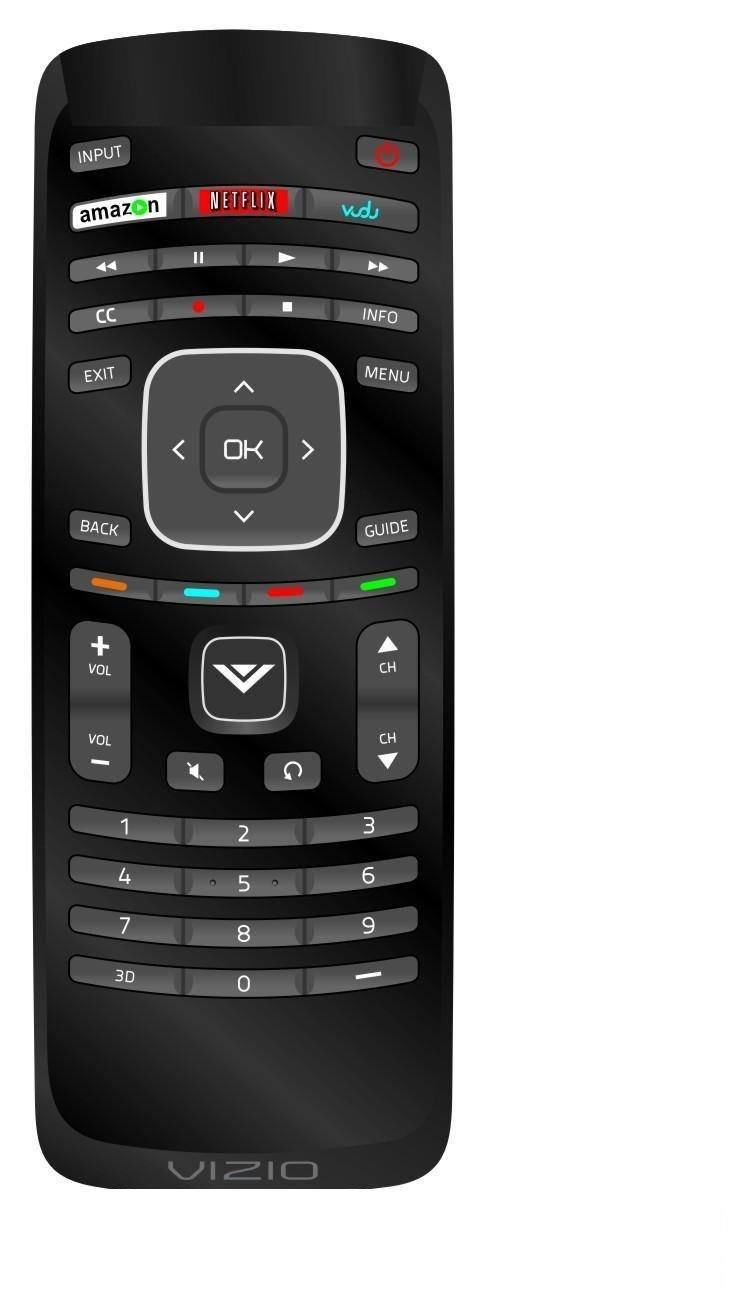 New Vizio XRT110 internet Remote for E370VP E420VT E422VLE
