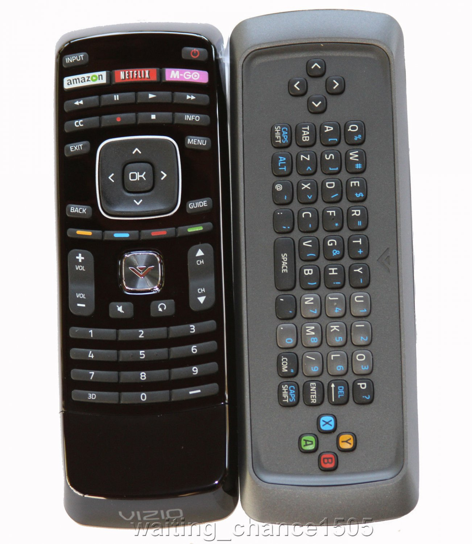 New Vizio XRT301 3D Qwerty Keyboard TV Remote Amazon Netflix M-GO