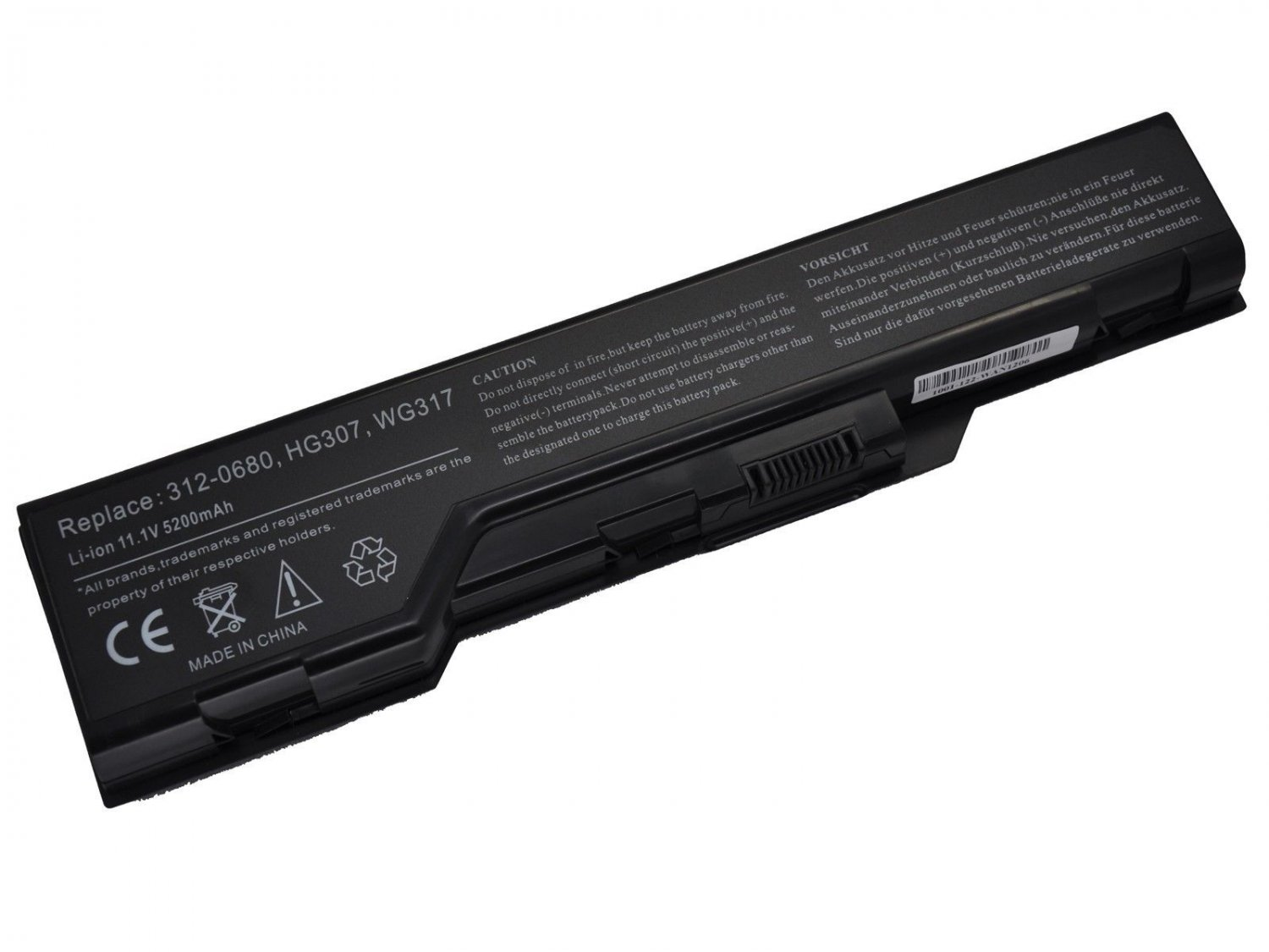 New 6 cell Laptop Battery for Dell XPS M1730 1730 312-0680 WG317 HG307 XG510