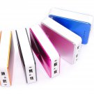New WAN 12000mAh External Power Bank 2 USB Battery Charger for iphone Htc