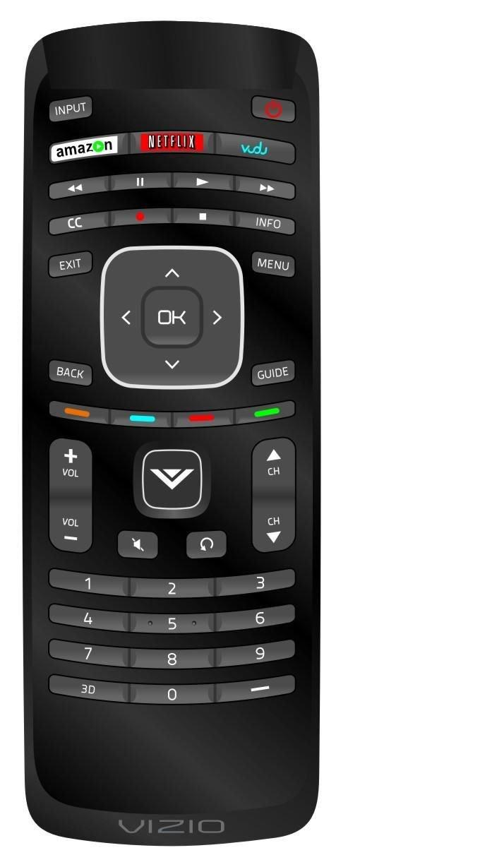 New Vizio TV Universal Remote for all Vizio LCD TV and Vizio Internet TV