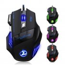 New 5500DPI LED 7 Buttons Game Mouse USB Wired for Alienware Gaming Laptop PC