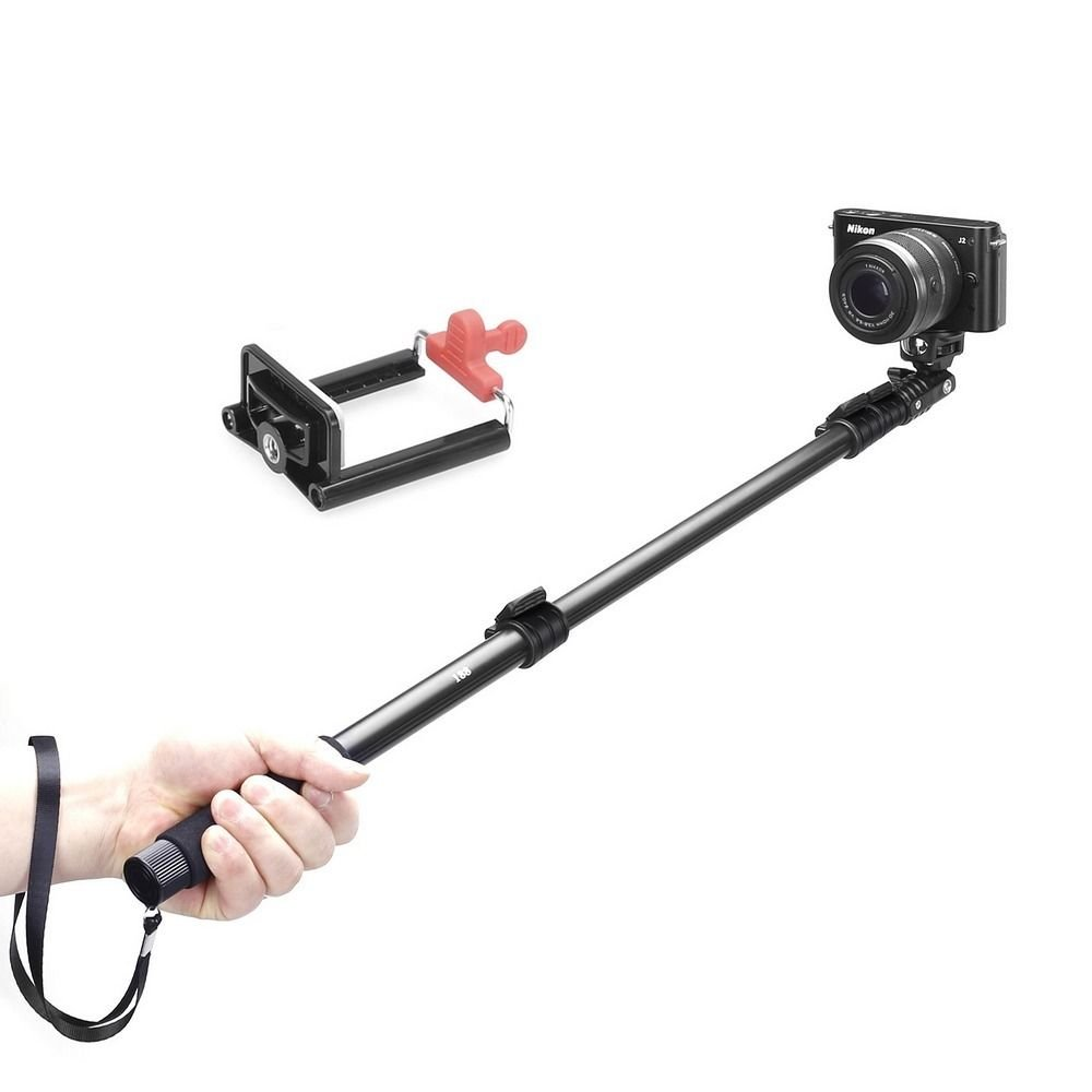 Extendable Telescopic Handheld Pole Arm Monopod + Tripod Adapter for GoPro Hero