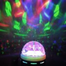3W Colorful LED Crystal Rotating RGB Stage Light Lamp DJ Disco Voice-activated