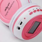 Digital wireless Stero Headphone with LCD FM Radio and Battery Chargeable