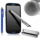 2x Pack Universal Touchscreen Tablet Stylus Pen Mesh Tip Gift Set White Blue