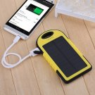 5000mAh 2 USB Solar Panel Charger Power Bank External Battery Backup For Phones