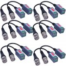 12x Mini Camera Video Balun BNC Connector CAT5 Coaxial CCTV UTP Extender Cable