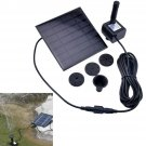Solar Panel Power Submersible Flotation Fountain Pond Water Pump for Garden Pond