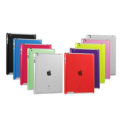 Pink Colour Snap-On Shell Case For Apple iPad 2 3 Tablet Hard Protective Cover