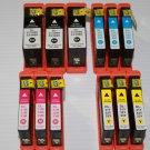 3 Black & 9 Color High Yield Ink Cartridge 31,32,33,34 for Dell V525  Printer