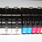 HiYl 3 Black 6 Color 200XL ink for Lexmark OfficeEdge Pro 4000 5000 5500 5500T