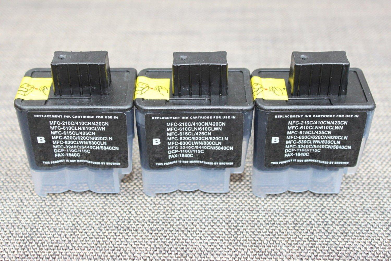3 Black Ink cartridgeLC41 Brother DCP 110c 310cn Intellifax 1840 1940 2240 2440