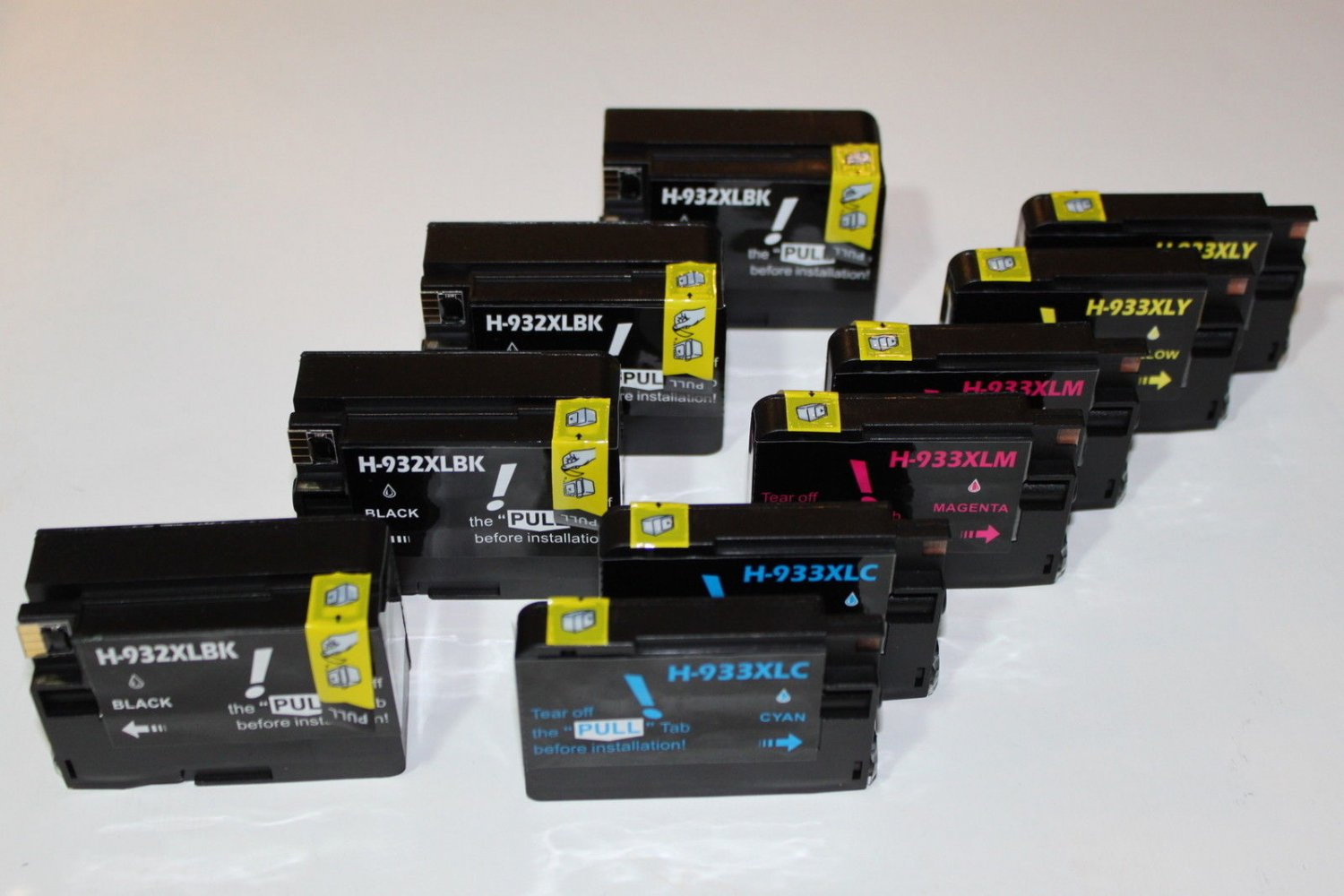 Lots of 10 Color 932 933 XL Ink Cartridge for HP OfficeJet Printer 6100 6600