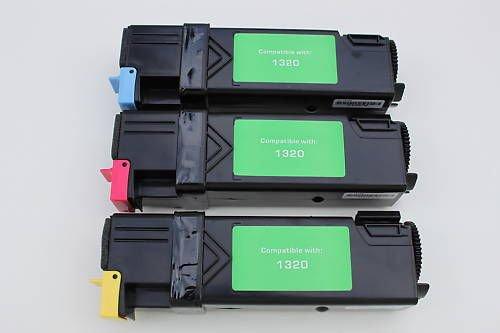 Lots of  3 Toner Cartridge KU051 C WM138 M PN124 Y for Dell 1320