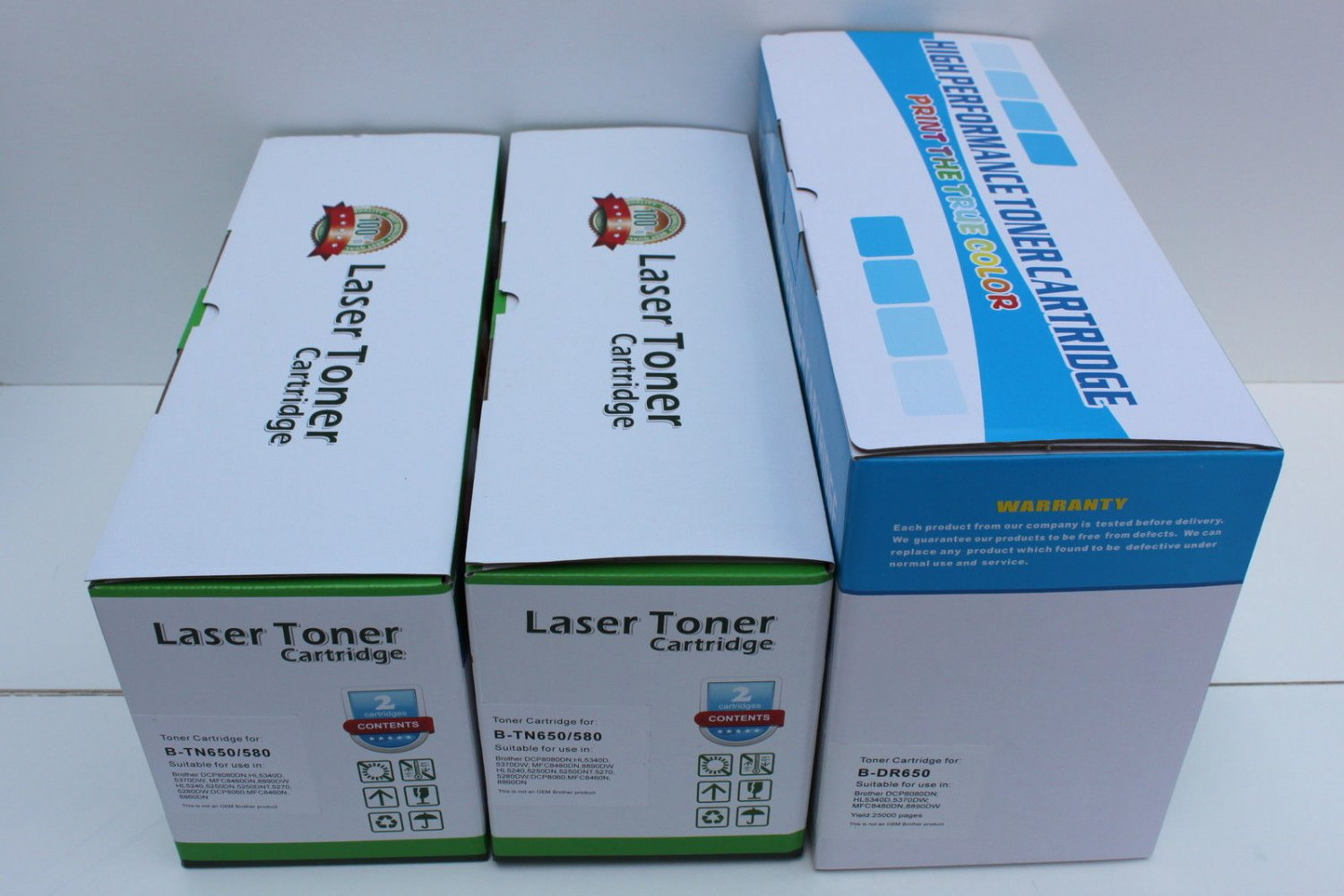 Drum DR620+2 High Yield Toner TN650 for Brother DCP-8080 8085 MFC-8860 8870 8890