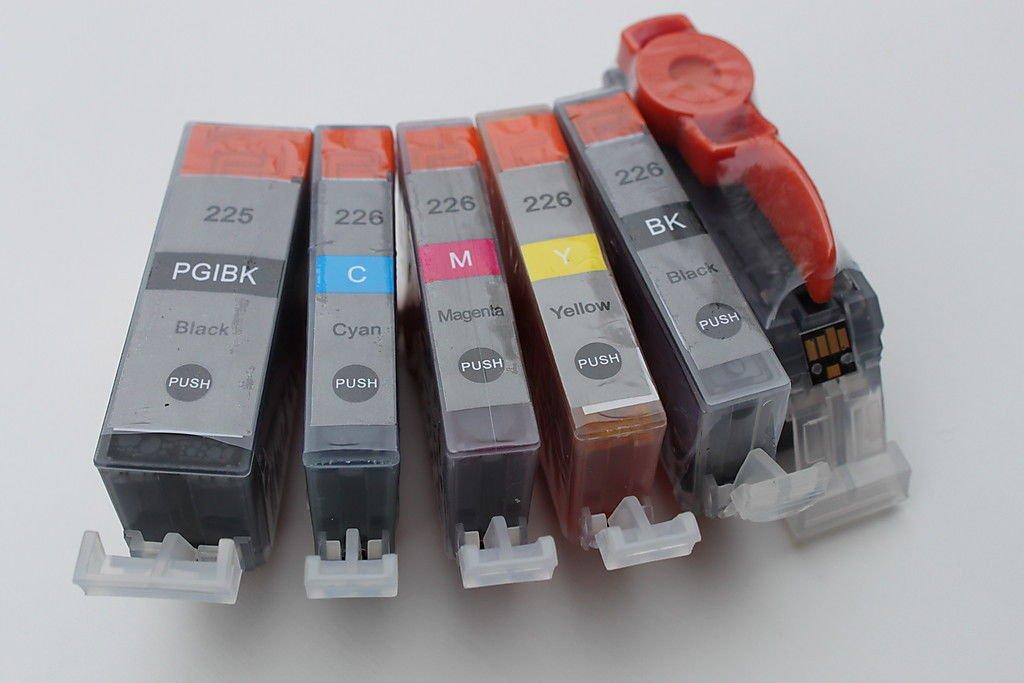 20 PGI-225 CLI-226 Ink Cartridge BK/C/M/Y/PBK for Canon Pixma All-in-One Printer