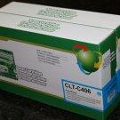New 2 x Cyan Toner 406 CLT-C406s for Samsung CLP-365W CLX-3305W CLX-3305FW C410W