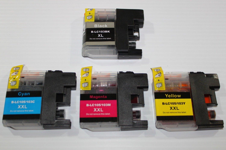 4 Ink LC103+LC105 for Brother DCP-J152W MFC-J245 J285DW J4310DW J4410DW J450DW