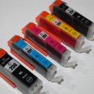 Lots of 5 Ink PGI-250XL CLI-251XL for Canon Pixma Printer MG-6420 6450 7120