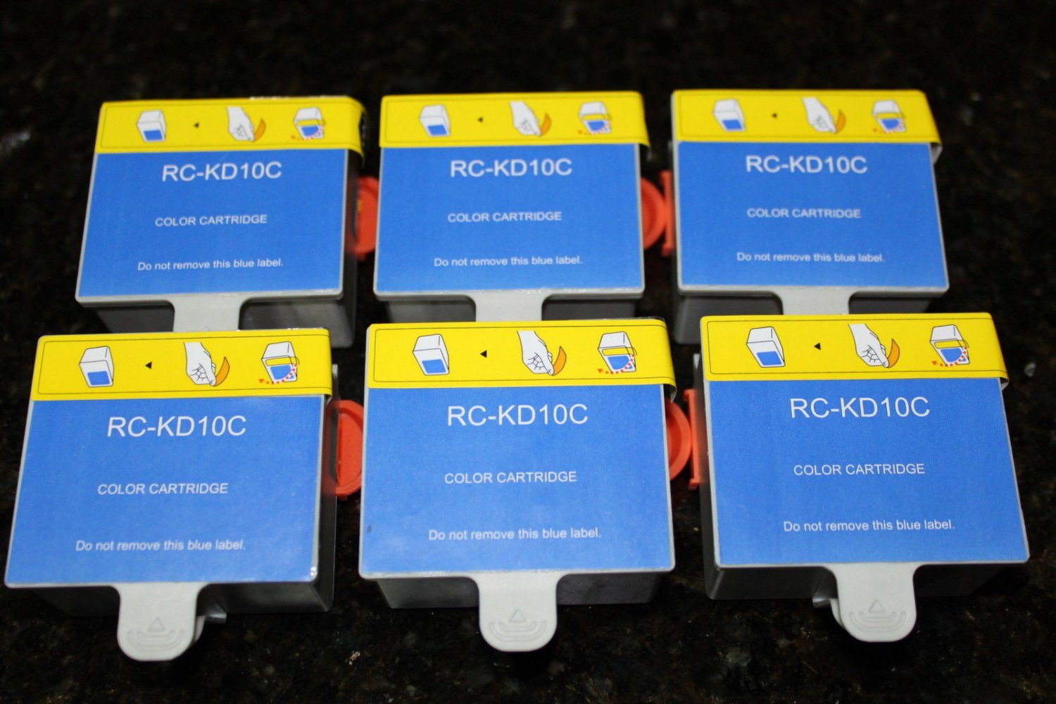 New 6 x Color Ink Cartridge 10c For Kodak ESP 5250 7250 Office 6150 Hero