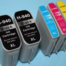 New 2 Black 3 Color Ink Cartridge 940XL for HP Officejet Pro 8000 8500 8500A