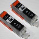 New 2 x Black PGI-250XL Ink Cartridge for Canon Pixma MG-5420 6320 MX-922 722