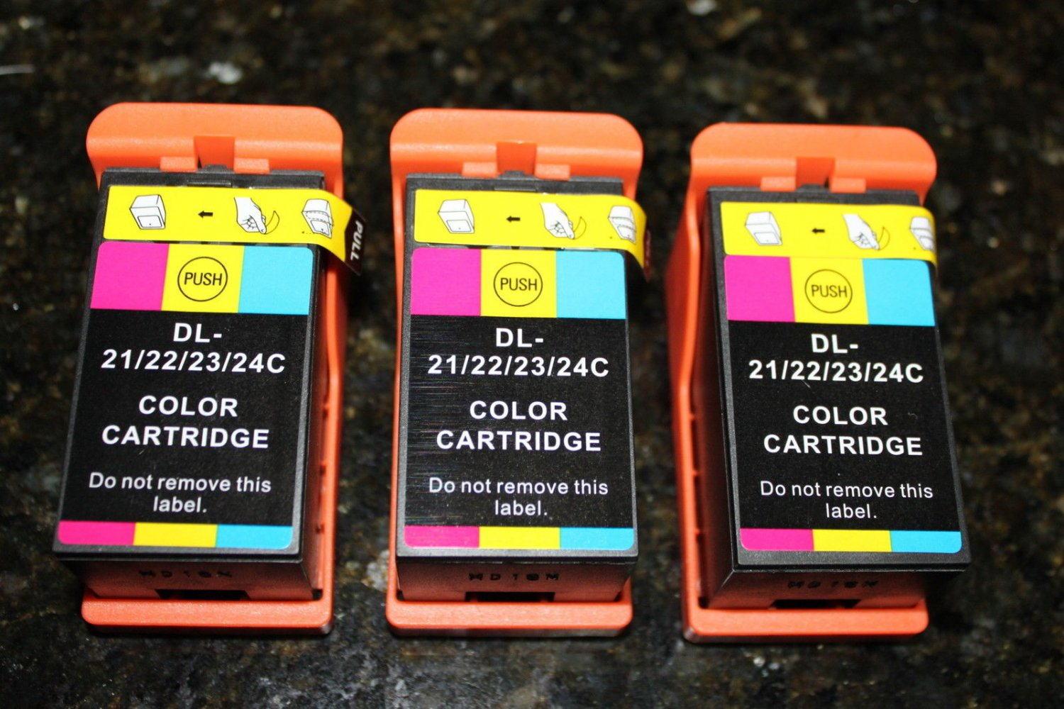 Lots of 3 Color T110n f Dell Series 21,22,23,24 Ink Cartridge P-513 713 V-313