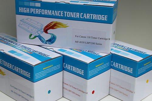 New 4 x Toner Cartridge 118 for Canon ImageClass MF-8350 8380cdw LBP-7200 7660