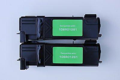 Lots of 2 Black Toner Cartridge 106R01281 for Xerox Phaser 6130 6130n