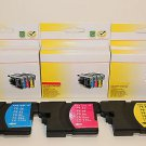 Lots of 6 LC65-LC61 Ink Cartridge Brother MFC-J220 J265w J410w