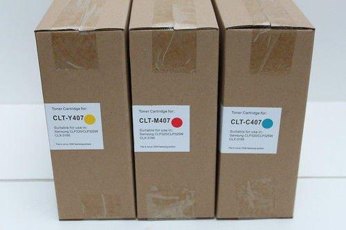 New 3 x Toner Cartridge C407 M407 Y407 Samsung CLP-320 325 CLX-3185