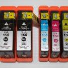 5 x Ink Cartridge 150XL Black&Color for Lexmark Printer S315 S415 S515 Pro 715