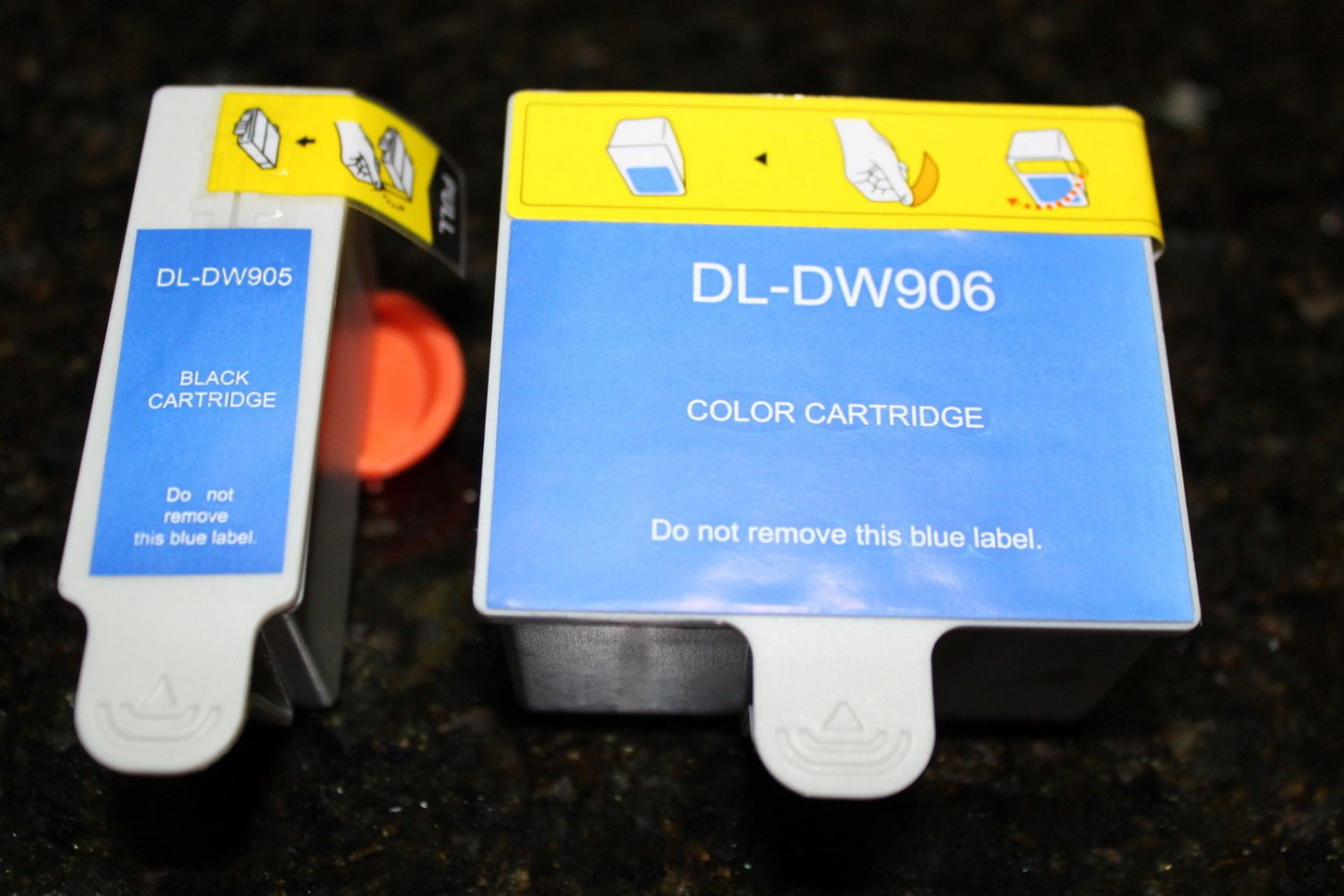 Black & Color Ink Cartridge DW-905 906 for Dell Series 20 All-in-One Printer