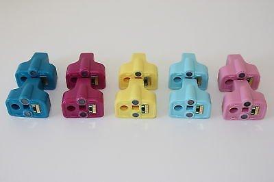 Lots of 10 Ink Cartridge 10 Color HP02, HP D7263 D7268 D7345