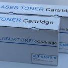 2 Cyan Toner CLT-C407s for Samsung CLP-320 325 CLX-3180 3185 2Series Printer