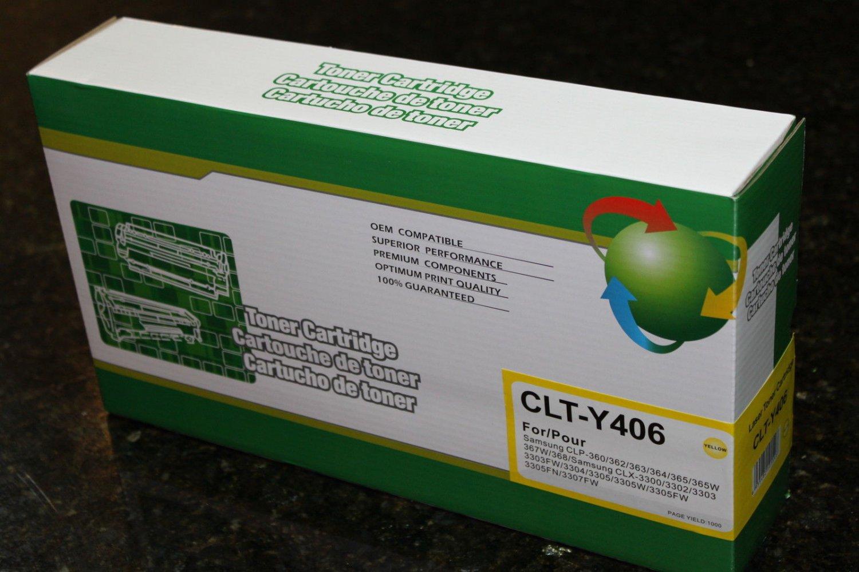 Yellow Toner Cartridge CLT-Y406s for Samsung CLP-365 C410 CLX-3305 W Printer