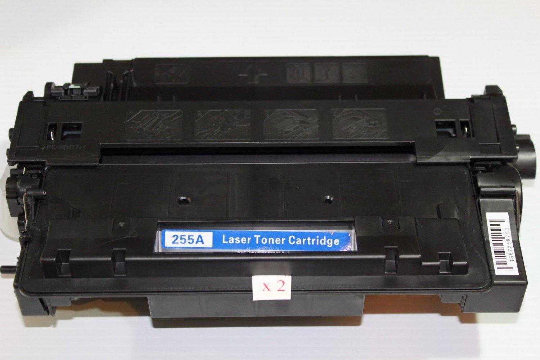 2 Toner Cartridge 55A CE255A for HP LaserJet Enterprise P3010 P3015 P3016 Series