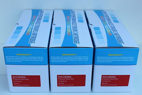 3 x Pack Toner Cartridge CE285A 85A for HP P1102 M1212