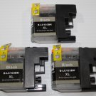 3x Black LC103 XL Ink for Brother J650DW J870DW J875DW J6520DW J6720DW