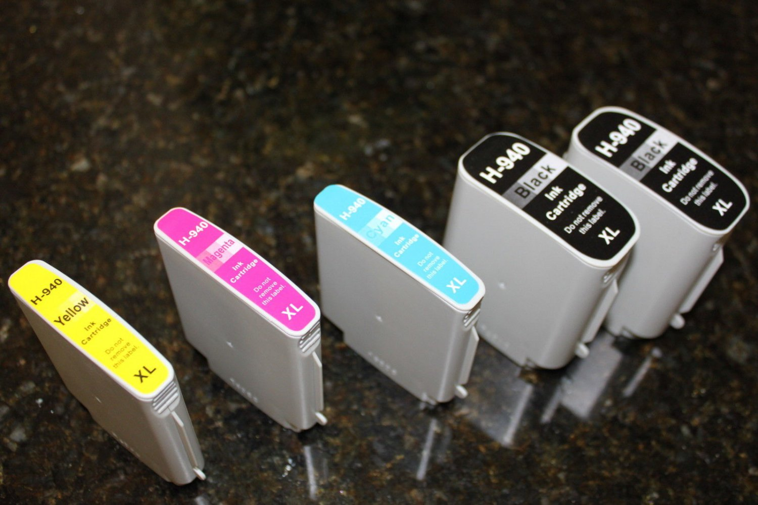 5 x Ink Cartridge XL 940 for HP Officejet Pro 8000 8500 8500A Series Printer