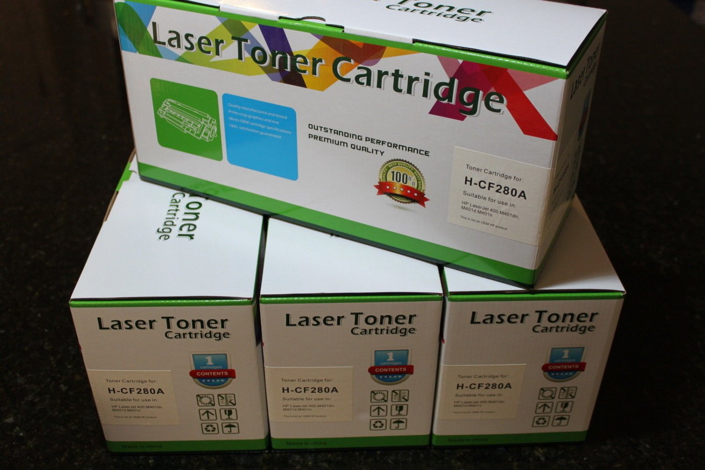 New 4 x Toner 80A CF280A Cartridge for HP Color LaserJet Pro M401 M425 Series