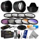 52MM Lens Filter & Accessory Kit for Nikon DSLR D5200 D5100 D5000 D3100 D90