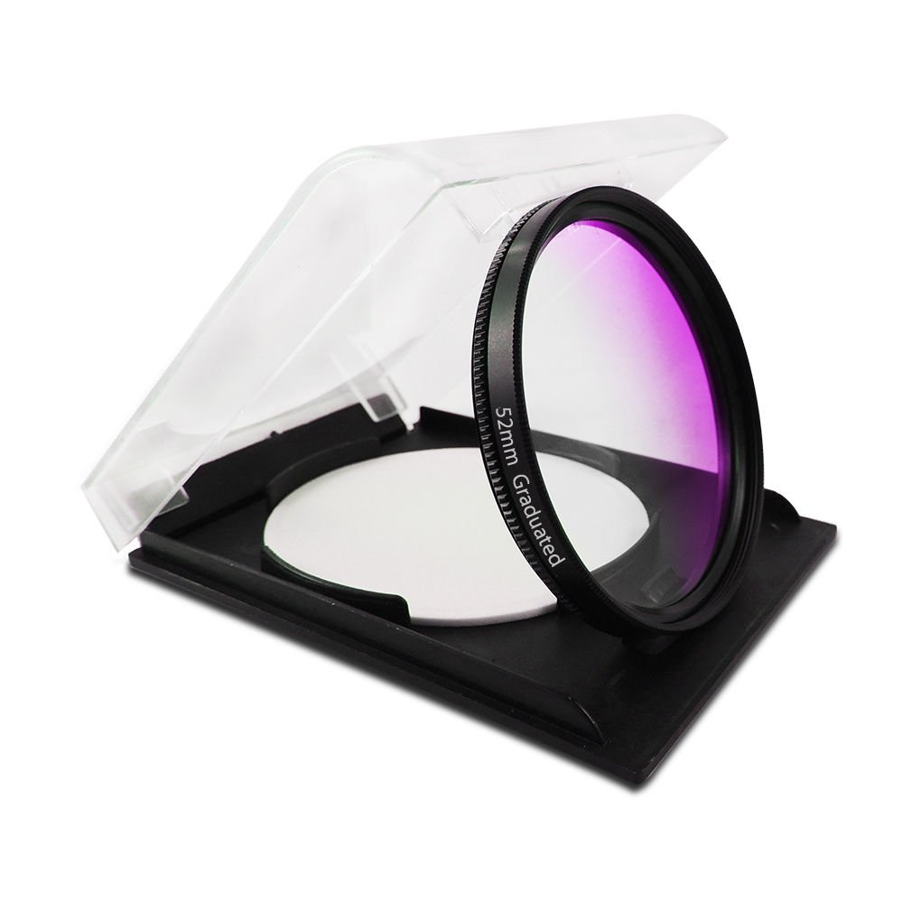 52MM Accessory Graduated Purple Color Special Filter for Digital Camera Lens