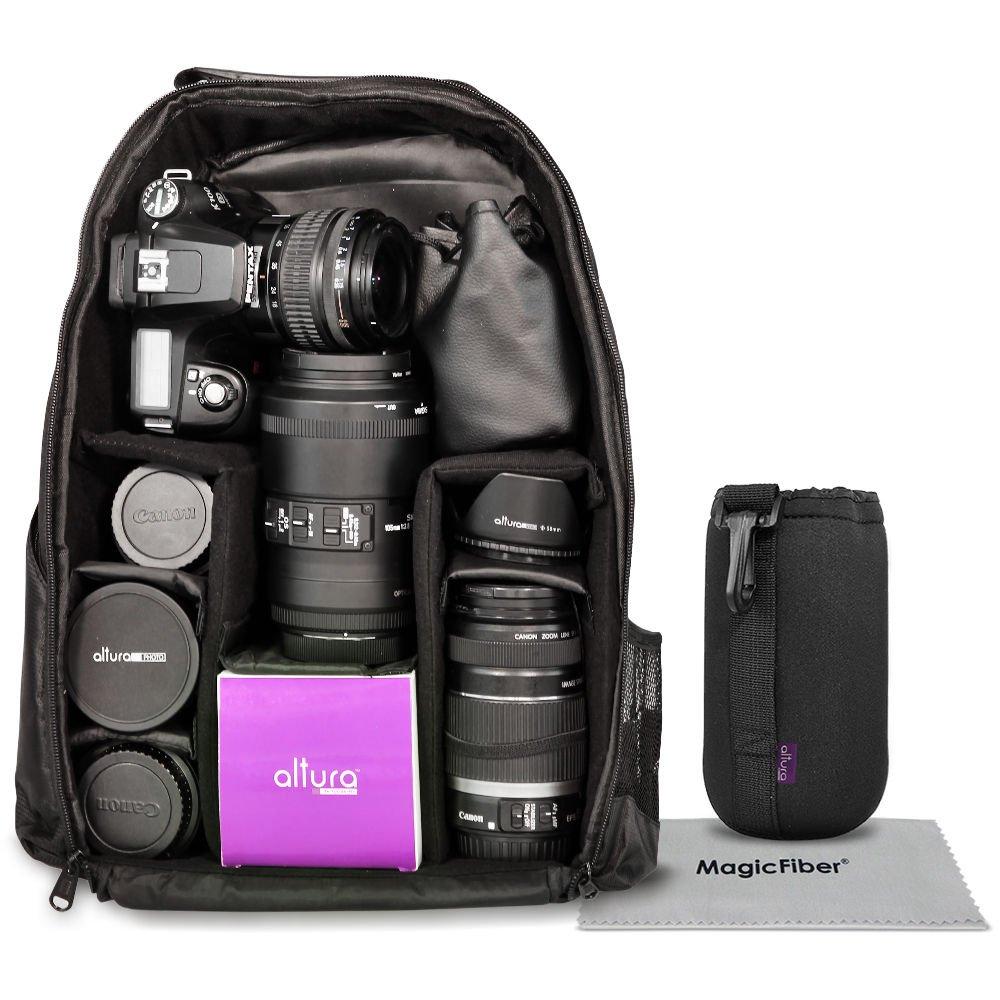 Camera Backpack Bag Case for DSLR SLR Canon EOS Rebel Nikon Sony Pentax