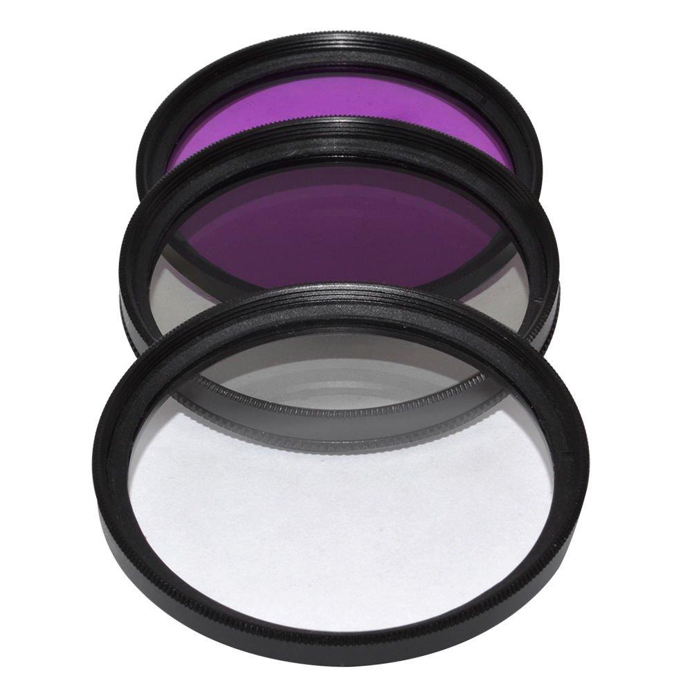 Vivitar 55MM Multi Coated UV CPL FLD Lens Filter Kit Series 1 Optics